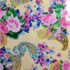 flower pattern Fabric Foil Print for dress