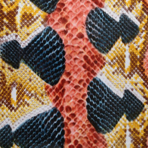snake pattern heat transfer film for textile